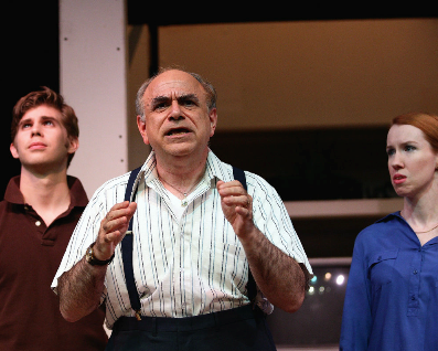 James Myers (Warren Ives), Steve Rosenthal (Morris Lipkind) and  Heather Benjamin (Lesley Rosen) - Photo by Shane Canfield