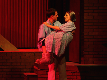 Michael Gale (Malcolm) and Mary Lou Bruno (Molly) - Photo credit to Shane Canfield