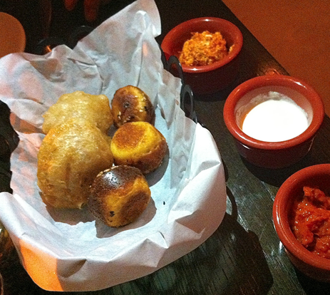 The Balkan bread basket with three spreads at Ambar - photo credit Jordan Wright