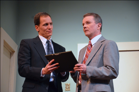 Richard Isaacs (Tony Wendice) and Jerry Hoffman (Captain Lesgate)- Photo credit Heather Norcross