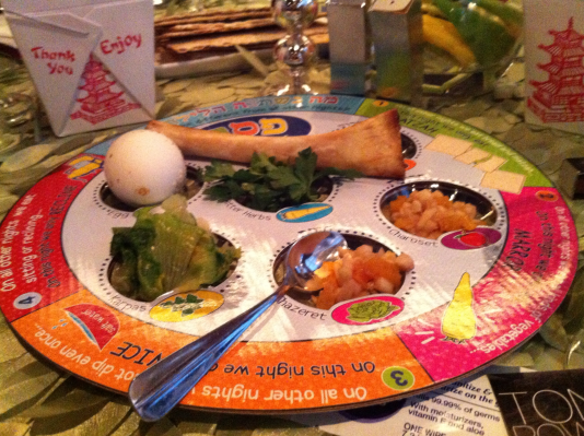 The ceremonial Seder plate - Photo credit Jordan Wright