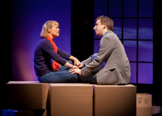 Jamie (James Gardiner) and Cathy (Erin Weaver) share a tender moment.  Photo: Teresa Wood