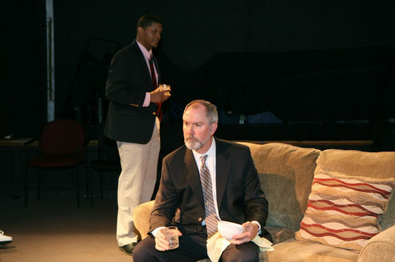 Chuck Leonard as Flan  Kittredge (R) and Chaz Pando as Paul (L) - photo credit J. Andrew Simmons