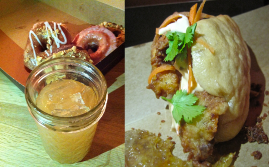 Bourbon punch pairs with doughnuts and the fried chicken banh mi wrap at GBD - photo credit Jordan Wright