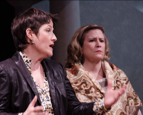 Melanie Bales (Dr. Gertrude Ladenburger) and Sarah Holt (Dr. Katherine Brandt) - Photo credit  Doug Olmsted
