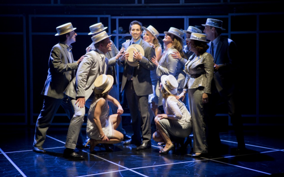 "The cast of ""Company"" serenades Bobby (Matthew Scott; center) as they sing ""Side By Side By Side.""  Photo: Scott Suchman."