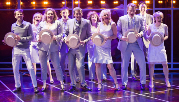 "The cast of ""Company"" turns Manhattan into a dance floor as they sing ""Side By Side By Side.""   Photo: Scott Suchman."