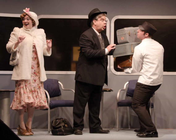 Heather Norcross (Anita Highland), Michael Gerwin (Dr. Grover Lockwood), and Ben Norcross (Porter) - Photo Doug Olmsted