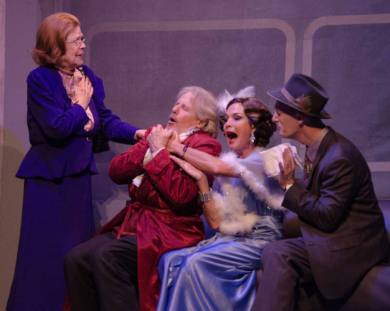 Kathy Fannon (Ida Webb), David James (Oscar Jaffe), Margaret Bush (Lily Garland), and James McDaniel (Owen O'Malley) - Photo Doug Olmsted