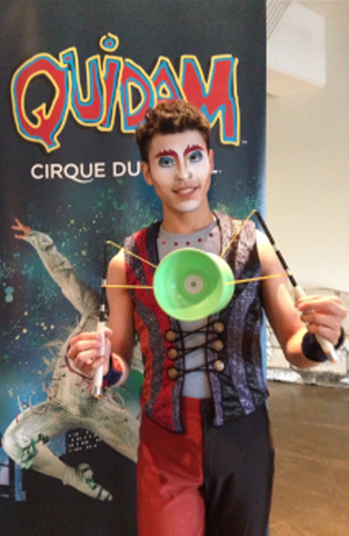 Quidam diabolo performer William Wei-Liang Lin - photo credit Jordan Wright
