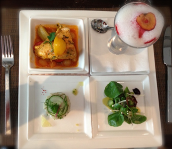 The 30-minute De-Light luncheon menu from Sofitel - photo credit Jordan Wright