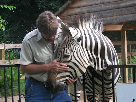 Meeks with his Zebra Zeke