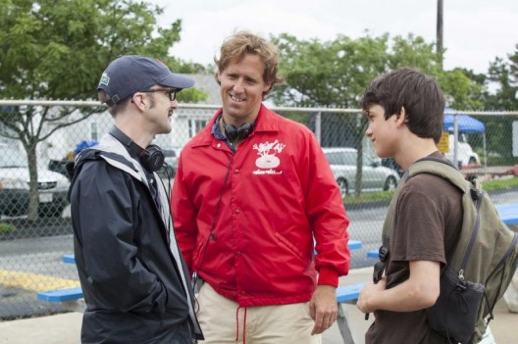 Filmmakers Jim Rash and Nat Faxon with Liam James on the set of THE WAY WAY BACK - Courtesy Fox Searchlight