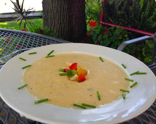Rockfish chowder at the Tilghman Island Inn