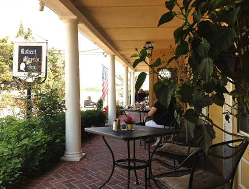 The veranda at the Robert Morris Inn