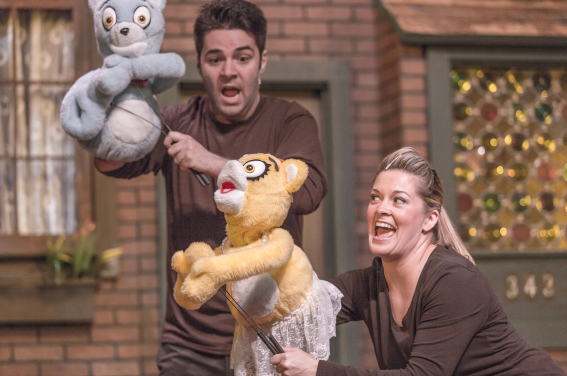 Bad Idea Bears (puppets), Matt Liptak and Charlene Sloan - Photos by Keith Waters