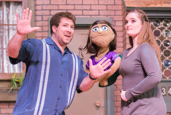 James Hotsko Jr., Kate Monster (puppet), and Kristina Hopkins - Photos by Keith Waters