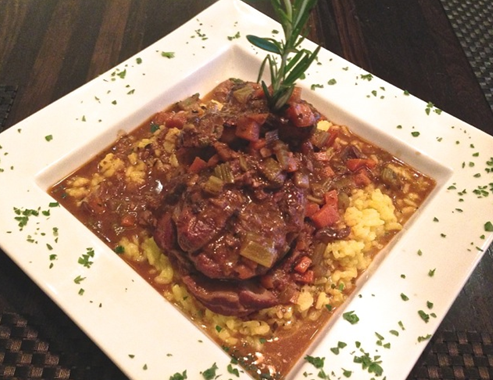Veal Osso Buco with Saffron Risotto
