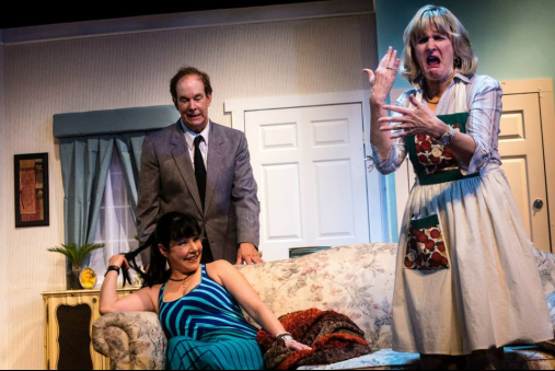 Mike Baker as John Smith, Annie Ermlick as Barbara Smith (Center) and Tricia O'Neill-Politte as Mary Smith - Photo credit Tabitha Rymal - Vaughn