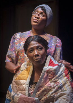 Roz White as Sadie and Margo Moorer as Nella in Gee's Bend - Photo credit Chris Banks