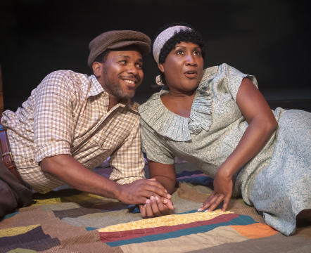 Anthony Manough as Macon and Roz White as Sadie - Photo credit Chris Banks