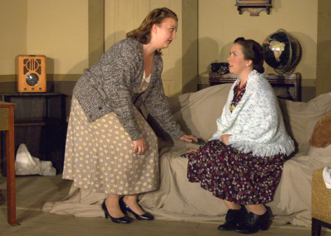 Chesley Megli (Martha Dobie) & Michelle McBeth (Karen Wright) - photo credit to Michael deBlois