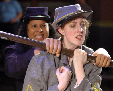 Nyla Rose DeGroat (Ranger Wilson) & Shaina Higgins  (Lucy Gale) - photo credit  Michael deBlois.