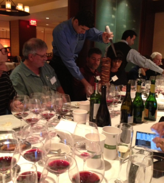 Brazilian wines and churrasco at Fogo de Chao