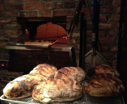 The wood fire oven at Iron Gate