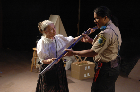 Adriana Hardy (Widow Beckwith) & Nyla Rose DeGroat (Ranger Wilson) - photo credit  Michael deBlois
