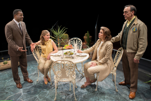 (L to R) Malcolm-Jamal Warner as Dr. John Prentice, Bethany Anne Lind as Joanna Drayton, Tess Malis Kincaid as Christina Drayton and Tom Key as Matt Drayton - Photo by Teresa Wood.