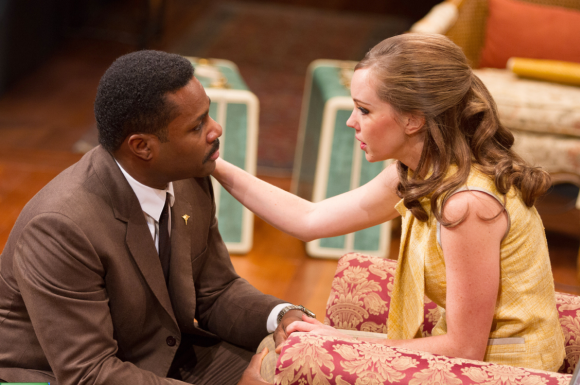 (L to R) Malcolm-Jamal Warner as Dr. John Prentice and Bethany Anne Lind as Joanna Drayton - Photo by Teresa Wood.