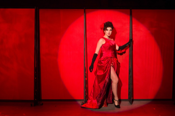"Louise (Maria Rizzo) becomes Gypsy Rose Lee in the musical ""Gypsy."" -  Photo by Teresa Wood."