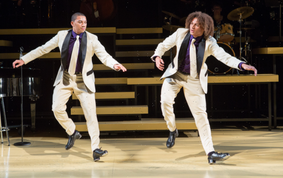 (L-R) John and Leo Manzari in Maurice Hines is Tappin' Thru Life - Photo by Teresa Wood.