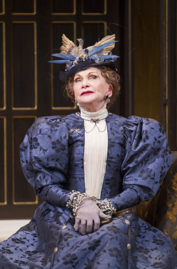 Siân Phillips as Lady Bracknell in the Shakespeare Theatre Company's production of The Importance of Being Earnest, directed by Keith Baxter. Photo by Scott