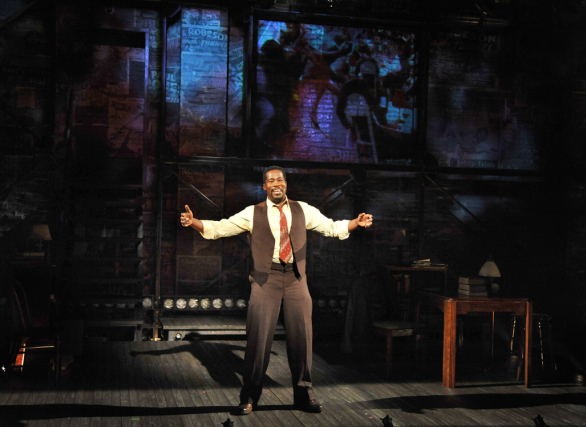 Daniel Beaty as Paul Robeson in Tectonic Theater Project's The Tallest Tree in the Forest. Photo by Don Ipock