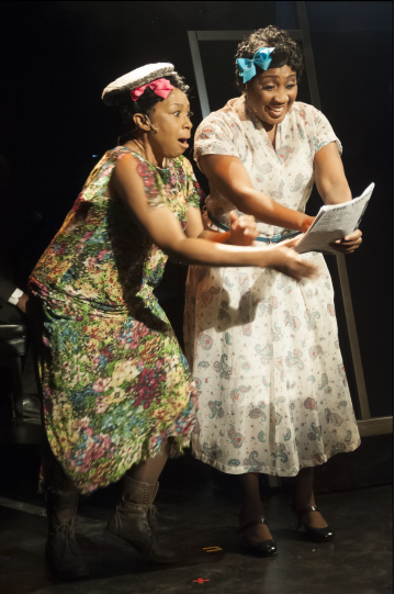 Roz White as Georgiana and Wynonna Smith playing Young Ella - Photo  credit Chris Banks