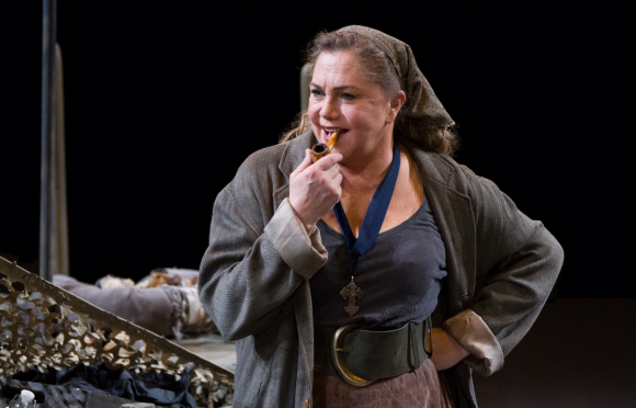 Kathleen Turner as Mother Courage in Mother Courage and Her Children - Photo by Teresa Wood