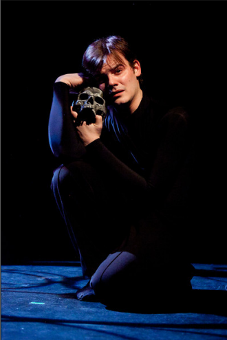 Alex Mills as Hamlet. Photo by Koko Lanham.