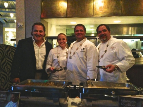 Chefs Peter Sciafani, Katie Gross and Gino Sciafani from Ruffino's
