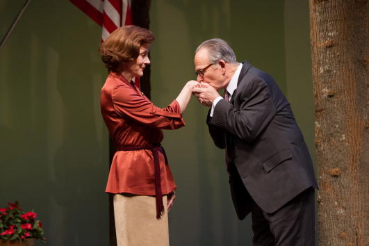 (L to R) Hallie Foote as Rosalynn Carter and Ron Rifkin as Menachem Begin - Photo by Teresa Wood.