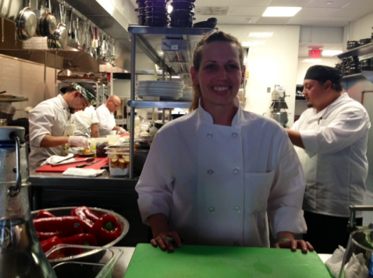 At the Chet's table with Chef de Cuisine Inez Raoul