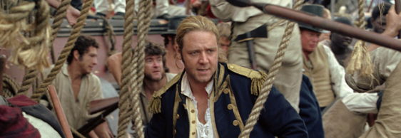 Master and Commander: The Far Side of the World premiered in 2003 and received 10 nominations for Academy Awards, including best picture. It was directed and co-written by celebrated Australian director Peter Weir, famous for movies The Truman Show and Dead Poets Society. The movie was drawn from the 20-volume series of seafaring novels by Patrick OBrian, following the exploits of Captain Jack Aubrey [Russell Crowe] and his close friend, surgeon Stephen Maturin [Paul Bettany]. - Photo credit to 20th Century Fox, Miramax Films and Universal Studios