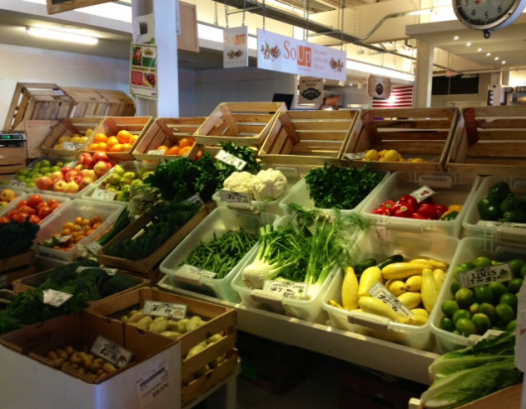 The greengrocer's stall at Union Market