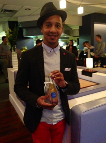 ThinkFoodGroup's Head Mixologist Juan Coronado shows off his Baklava Soda