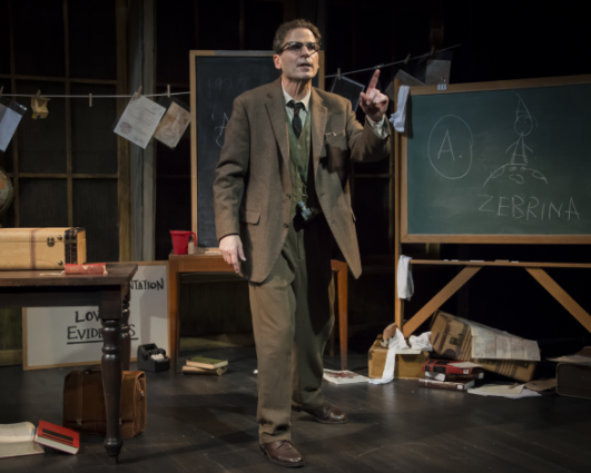 Paul Morella as The Librarian in Underneath the Lintel - Photo credit: Chris Banks