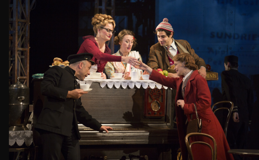 Hannah Yelland as Laura, Joe Alessi as Albert, Annette McLaughlin as Mrytle, Dorothy Atkinson as Beryl and Damon Daunno as Stanley in Kneehigh's U.S. tour of Brief Encounter by Jim Cox
