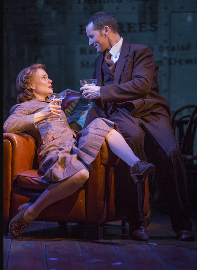 Hannah Yelland as Laura and Jim Sturgeon as Alec in Kneehigh's U.S. tour of Brief Encounter by Jim Cox