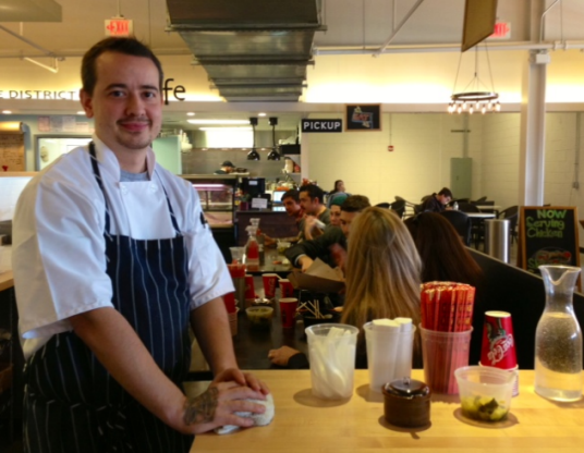 Toki Underground chef James Wozniuk at Union Market