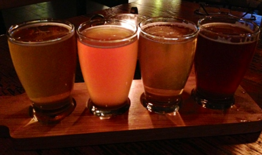Try a flight of four beers at City Tap House